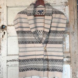 Chaps sleeveless Cardigan/knit vest toggle closure